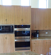 Double oven and microwave cabinets