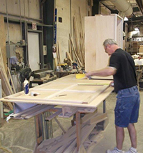 Jeff laying out a frame